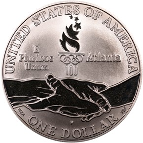 1995 P OLYMPICS - CYCLING S$1 PF reverse