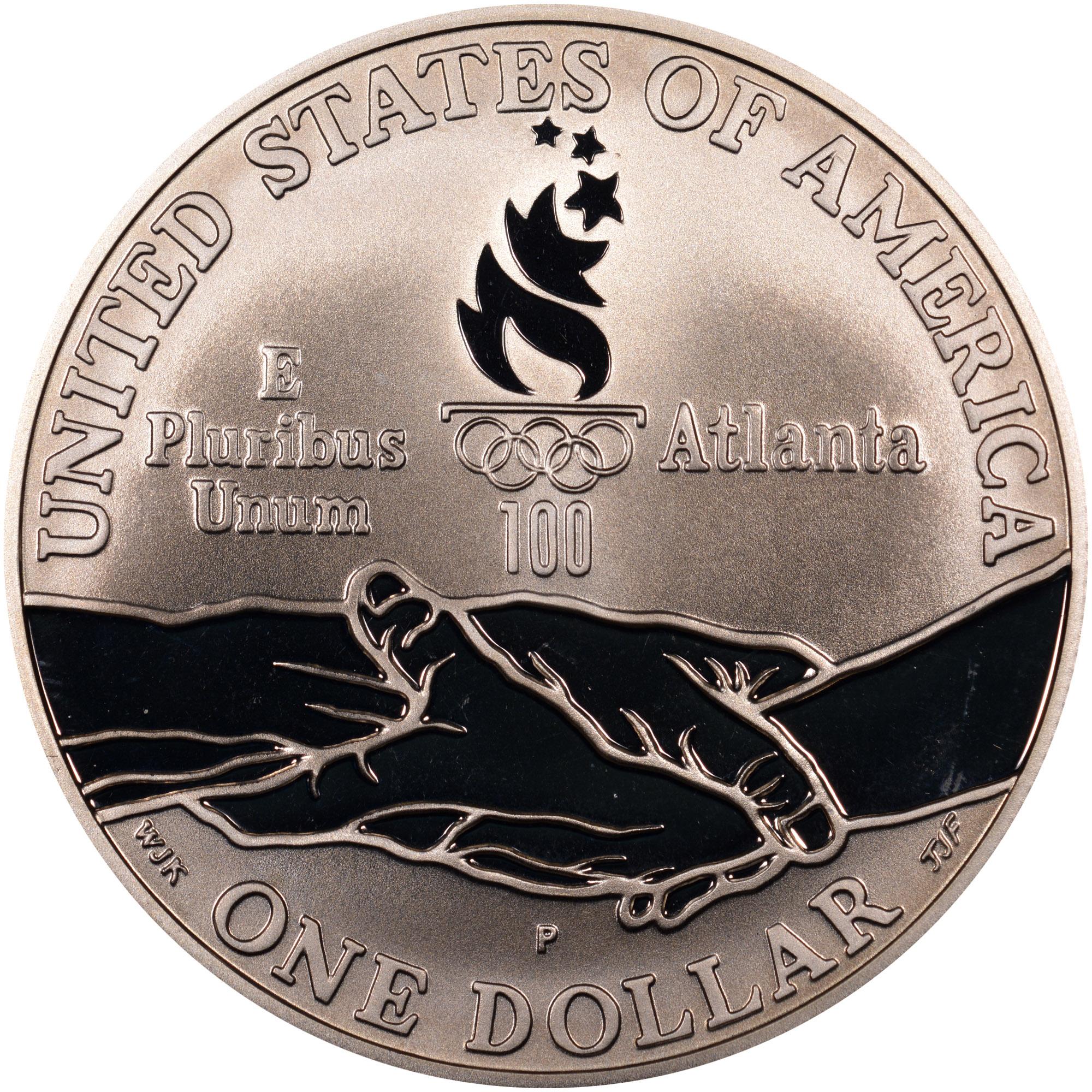 1995 Paralympics Blind Runner Commemorative Silver Dollar NGC PF 69 Ultra Cameo