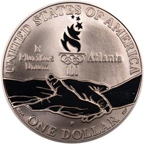 1995 P OLYMPICS - TRACK & FIELD S$1 PF reverse
