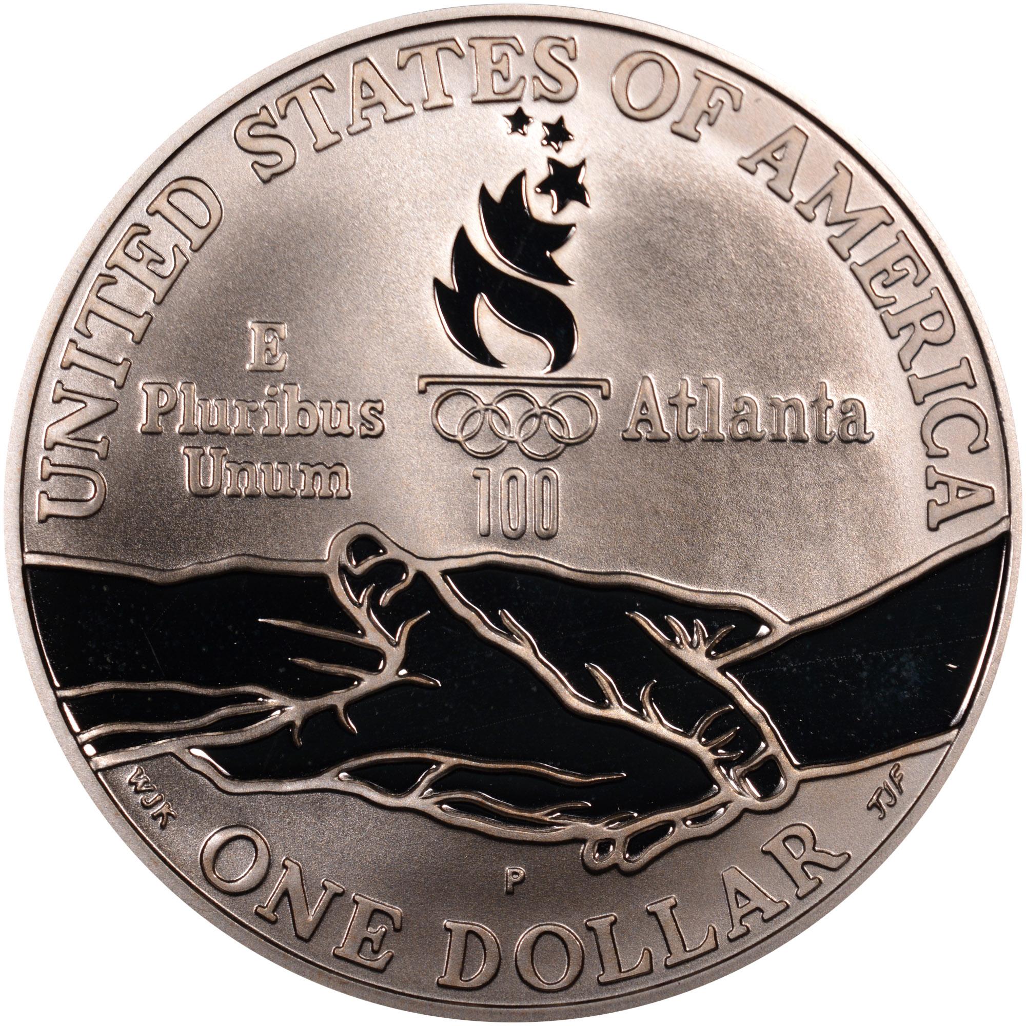1995 P $1 XXVI Olympics Cycling Commemorative Silver Dollar NGC PF69 UC