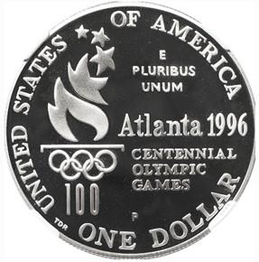 1996 P OLYMPICS ROWING S$1 PF reverse