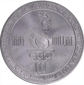 1996 S OLYMPICS SWIMMING 50C MS reverse