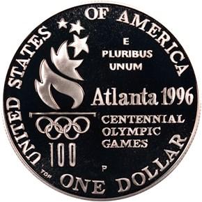 1996 P OLYMPICS - PARALYMPICS S$1 PF reverse