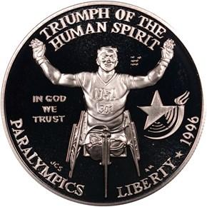 1996 P OLYMPICS - PARALYMPICS S$1 PF obverse
