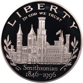 1996 P SMITHSON S$1 PF obverse