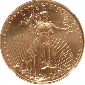 1998 EAGLE G$25 MS obverse
