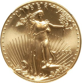 1998 EAGLE G$50 MS obverse