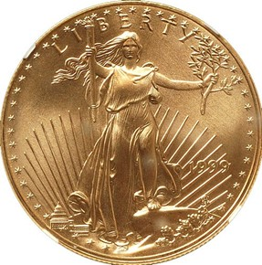 1999 EAGLE G$50 MS obverse