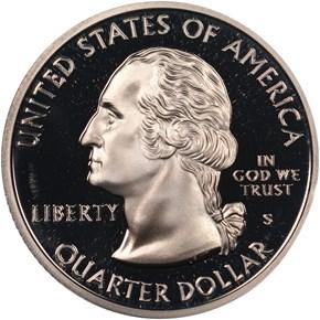 1999 S SILVER PENNSYLVANIA 25C PF reverse