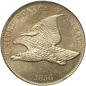1856 EAGLE 1C PF obverse