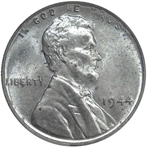 1944 STEEL 1C MS obverse