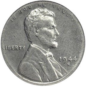 1944 S STEEL 1C MS obverse