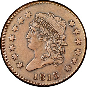 1813 1C MS obverse
