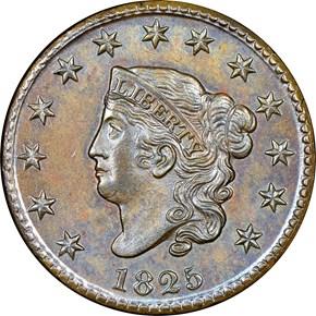 1825 1C MS obverse