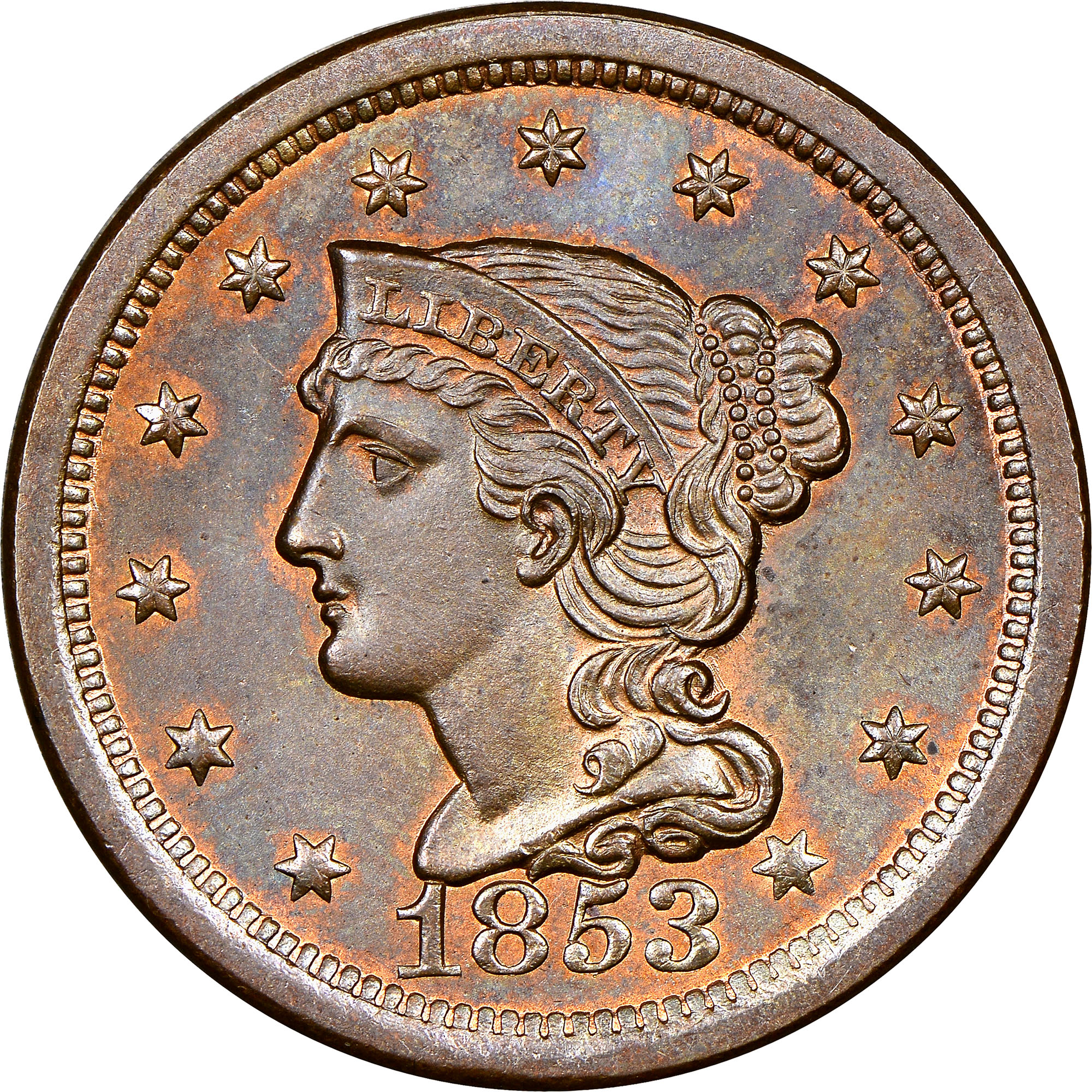 100 Images of 1853 One Cent