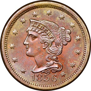 1856 LARGE 1C MS obverse
