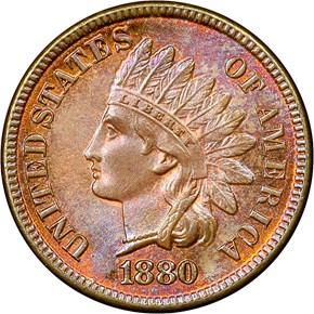 1880 1C MS obverse
