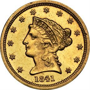 1841 D $2.5 MS obverse