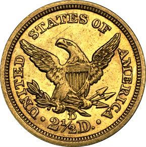 1841 D $2.5 MS reverse