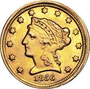 1856 D $2.5 MS obverse