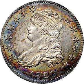 1820 25C MS obverse
