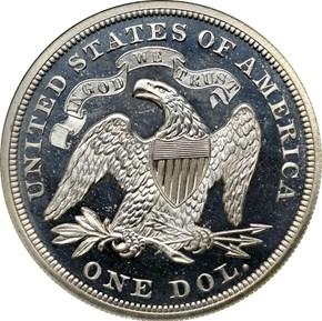 1869 S$1 PF reverse