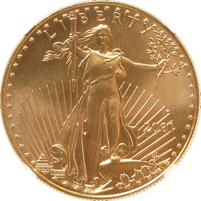 2001 EAGLE G$50 MS obverse