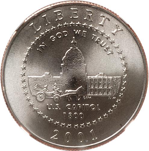2001 P US Capitol Visitors Center Dollar Proof US Mint