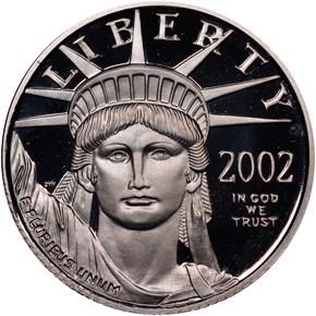 2002 W EAGLE P$10 PF obverse