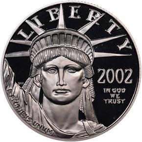 2002 W EAGLE P$50 PF obverse