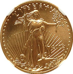 2002 EAGLE G$5 MS obverse