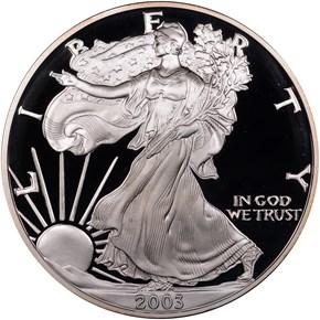 2003 W EAGLE S$1 PF obverse