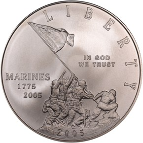 2005 P MARINES S$1 MS obverse
