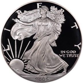 2005 W EAGLE S$1 PF obverse