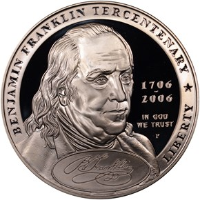 2006 P BEN FRANKLIN FOUNDING FATHER S$1 PF obverse