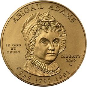 2007 W ABIGAIL ADAMS G$10 MS obverse
