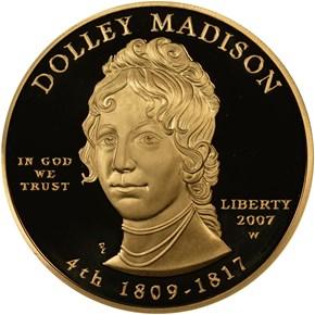 2007 W DOLLEY MADISON G$10 PF obverse