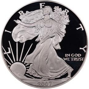 2007 W EAGLE S$1 PF obverse