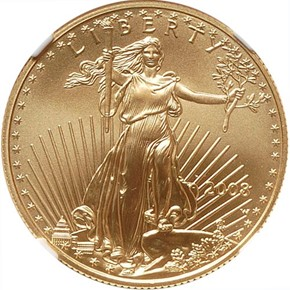 2008 EAGLE G$25 MS obverse