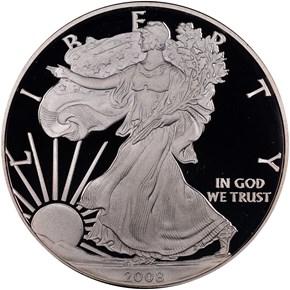 2008 W EAGLE S$1 PF obverse