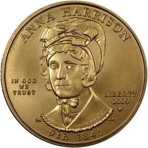 2009 W ANNA HARRISON G$10 MS obverse