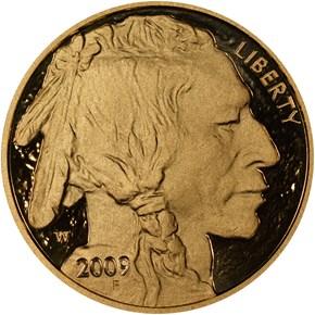 2009 W BUFFALO .9999 FINE G$50 PF obverse