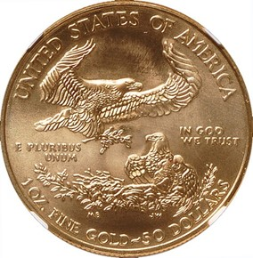 2010 EAGLE G$50 MS reverse