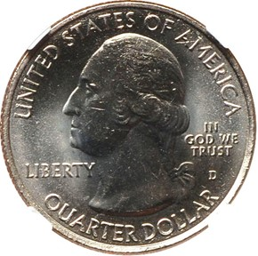 2010 D HOT SPRINGS 25C MS obverse