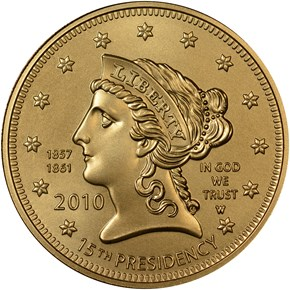 2010 W BUCHANAN'S LIBERTY G$10 MS obverse