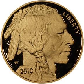 2010 W BUFFALO .9999 FINE G$50 PF obverse