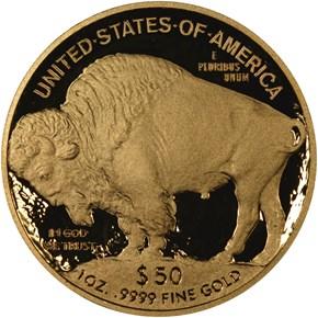 2010 W BUFFALO .9999 FINE G$50 PF reverse
