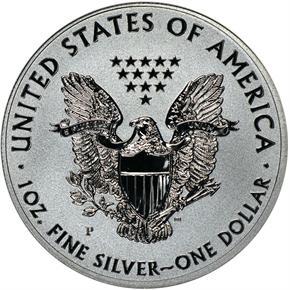 2011 P EAGLE REVERSE PF 25TH ANNIVERSARY SET S$1 P reverse