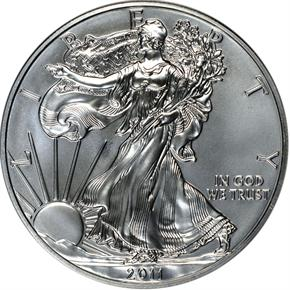 2011 S EAGLE 25TH ANNIVERSARY SET S$1 MS obverse