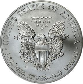 2011 S EAGLE 25TH ANNIVERSARY SET S$1 MS reverse